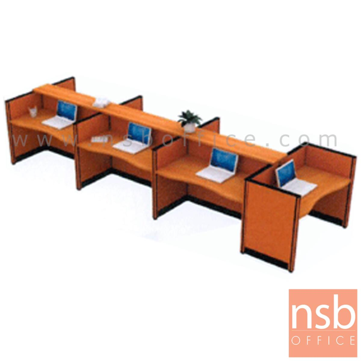 A04A053:ชุดโต๊ะทำงานกลุ่ม 7 ที่นั่ง   พร้อมที่วางของส่วนกลาง