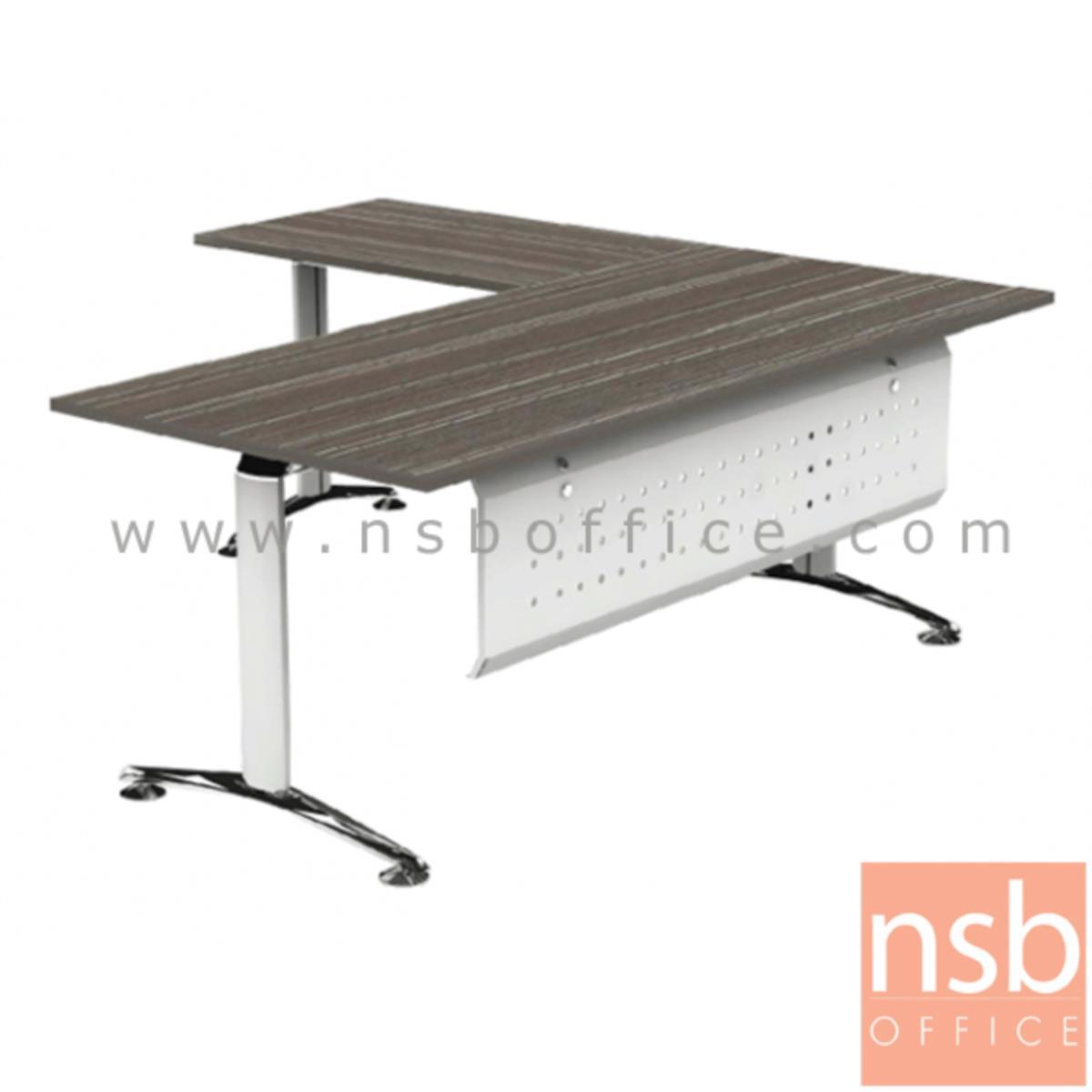 A30A002:โต๊ะทำงานตัวแอล  รุ่น HB-EX3DL2019  ขนาด 200W1*190W2 cm. ขาอลูมิเนียม