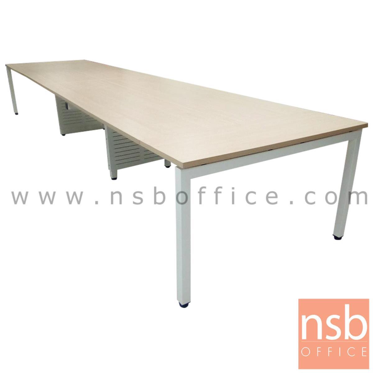 A05A085:โต๊ะประชุมทรงสี่เหลี่ยม 120D cm. รุ่น CONNEXX-021 ขนาด 280W ,320W ,440W ,520W ,620W cm.  ขากลางมีกล่องร้อยสาย