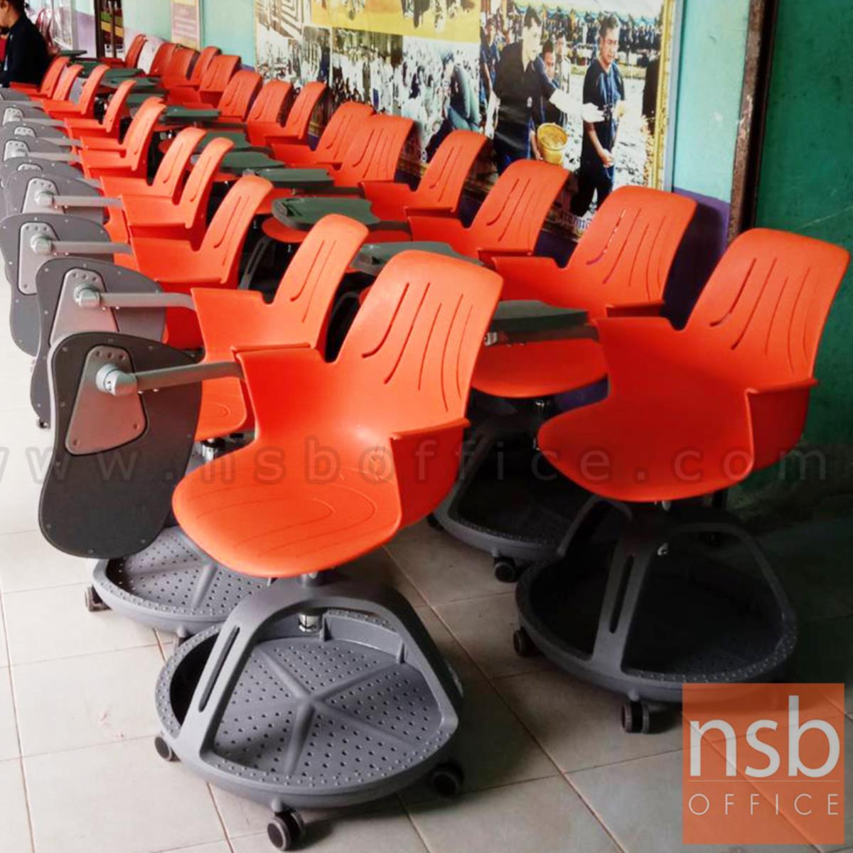 เก้าอี้เลคเชอร์เฟรมโพลี่ล้อเลื่อน รุ่น Bastien (บาสเตียน)  ฐานกลมวางกระเป๋าได้