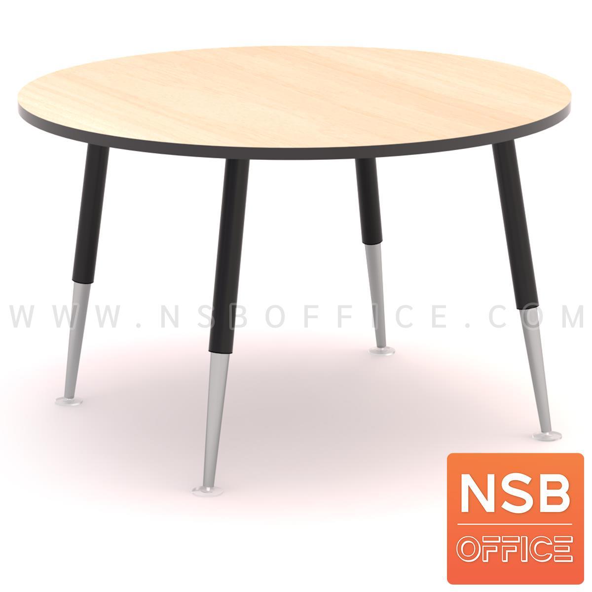 A05A227:โต๊ะประชุมทรงวงกลม รุ่น Wazowski (วาซอว์สกี้) ขนาด 90Di, 120Di cm. ขาเหล็กปลายเรียว