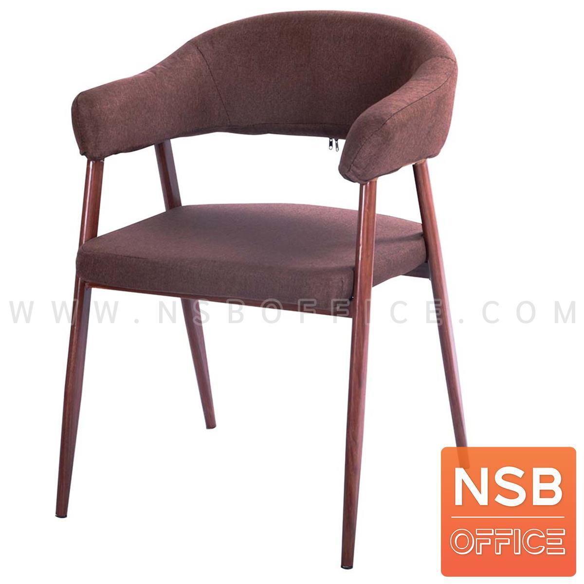 B29A382:เก้าอี้โมเดิร์นหุ้มผ้า รุ่น Novel (โนเวล)  ขาเหล็กลายไม้