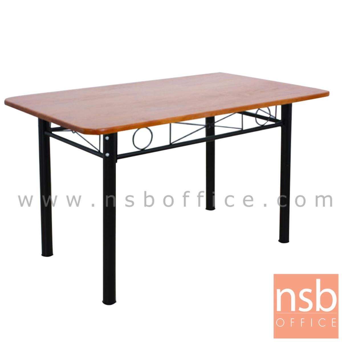 A14A246:โต๊ะหน้าไม้ยางพารา รุ่น Baylee (เบย์ลี) ขนาด  120W*75D cm ขาเหล็ก