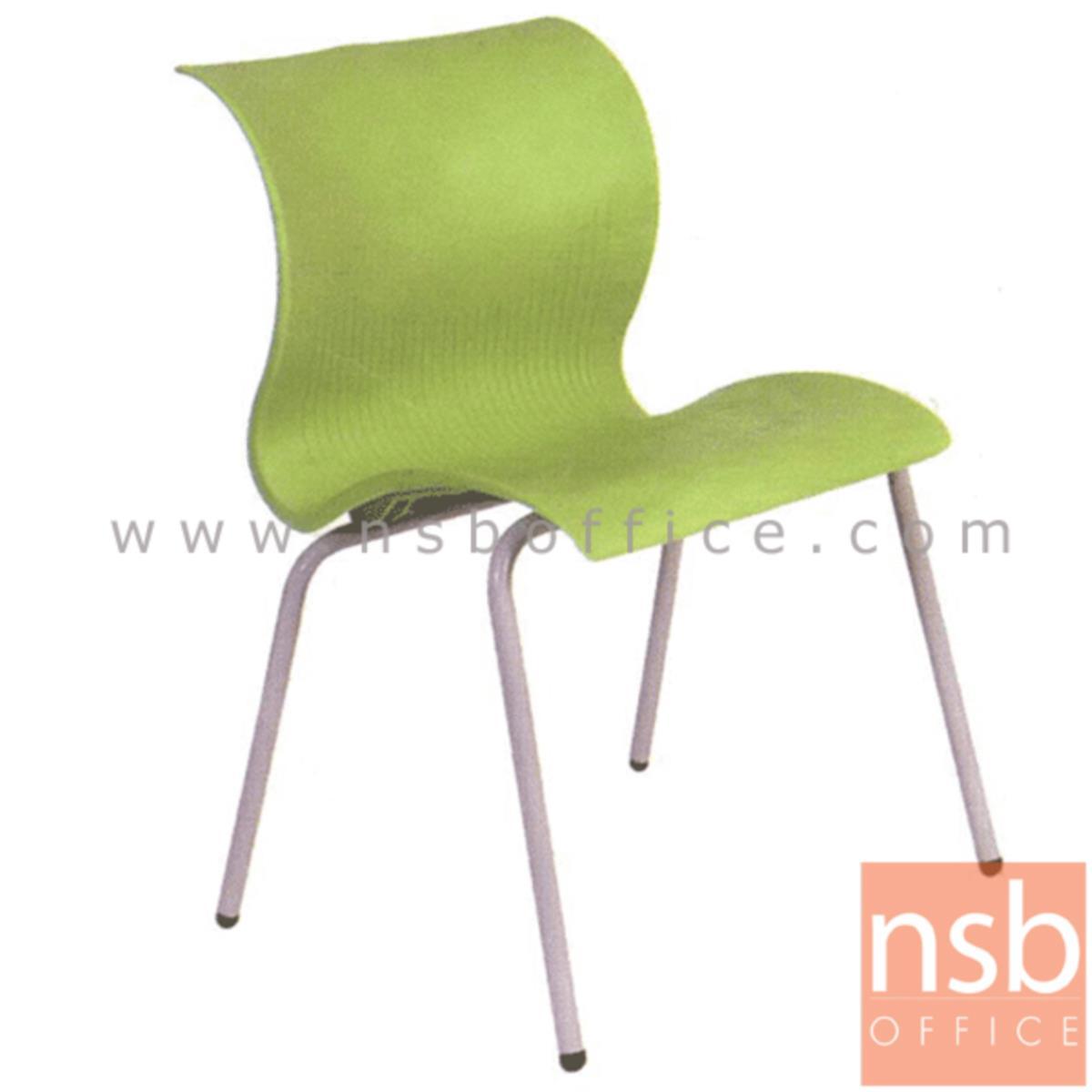 B05A037:เก้าอี้อเนกประสงค์เฟรมโพลี่ รุ่น A301  ขาเหล็ก