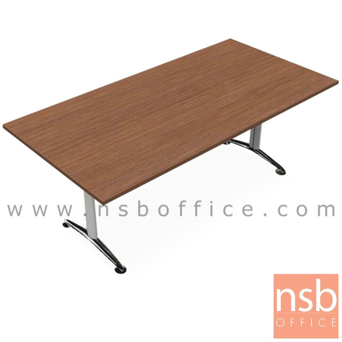 A22A008:โต๊ะประชุมทรงสี่เหลี่ยม  รุ่น Quirinus 8 ,10 ที่นั่ง ขนาด 200W ,240W cm.  ขาเหล็กตัวที