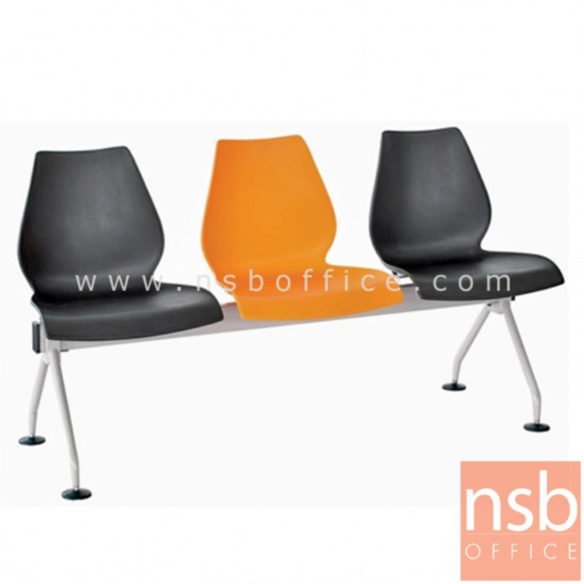 B06A068:เก้าอี้นั่งคอยเฟรมโพลี่ทรงดอกบัว รุ่น B508 2 ,3 ,4 ที่นั่ง ขนาด 96W ,147W ,199W cm. ขาเหล็ก