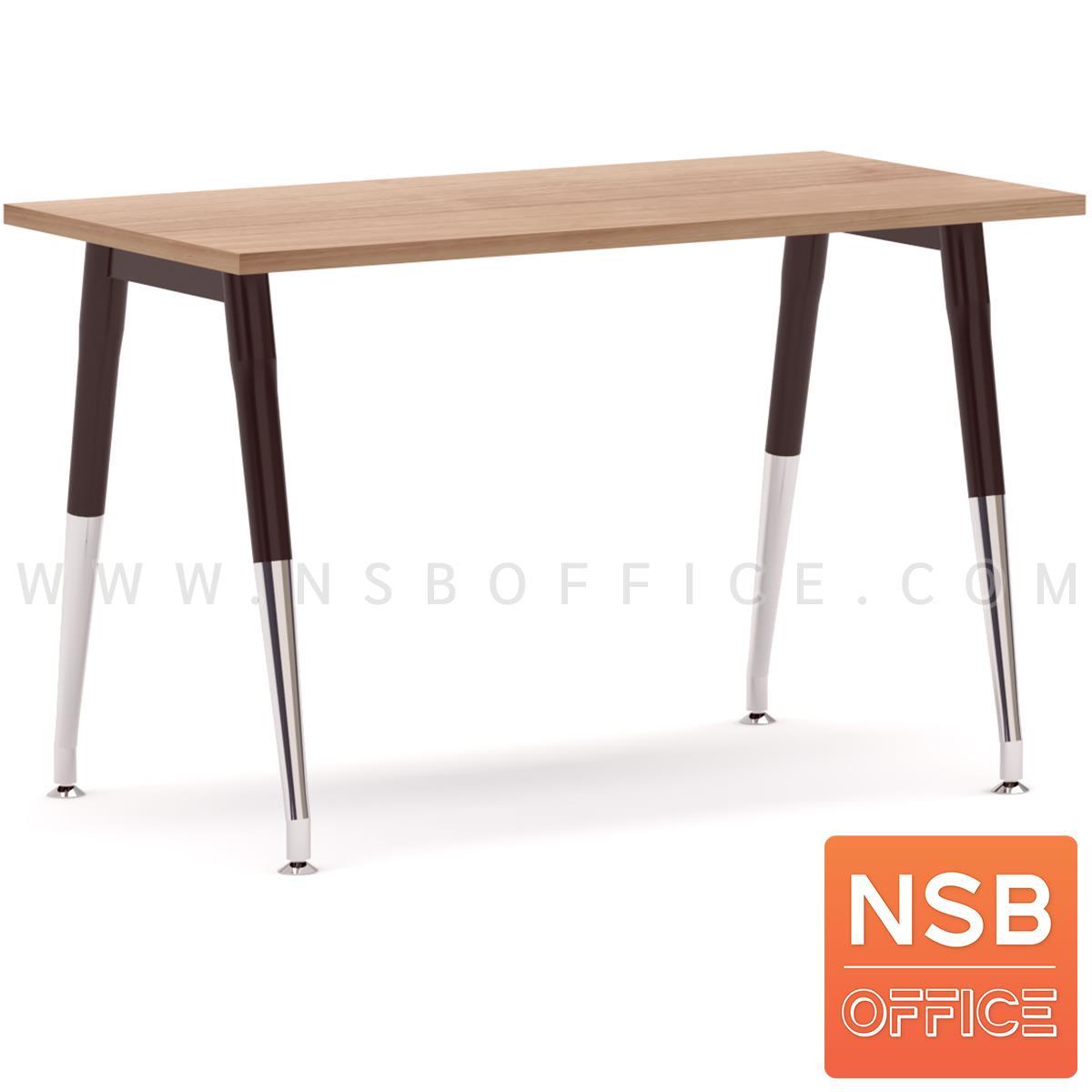 A18A039:โต๊ะทำงานโล่ง รุ่น MODERN-13  ขาเหล็กวีคว่ำ ปลายเรียว