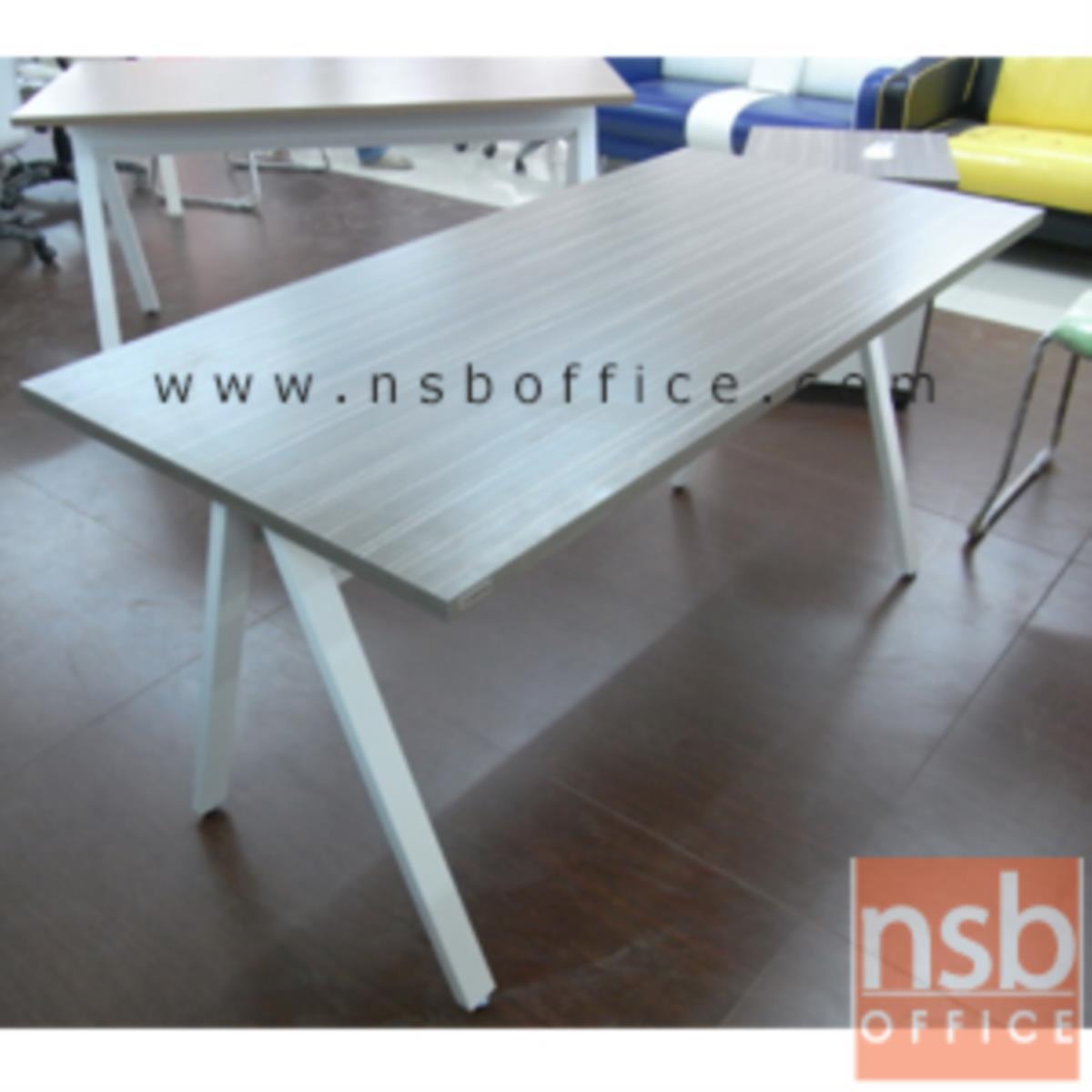 โต๊ะทำงาน  รุ่น DK-ALEG15  ขนาด 150W*75H cm. ขาเหล็กตัวเอ