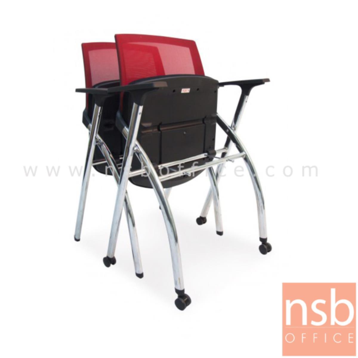 เก้าอี้สำนักงานหลังเน็ต รุ่น Nighstisters  ขาเหล็กชุบโครเมี่ยม