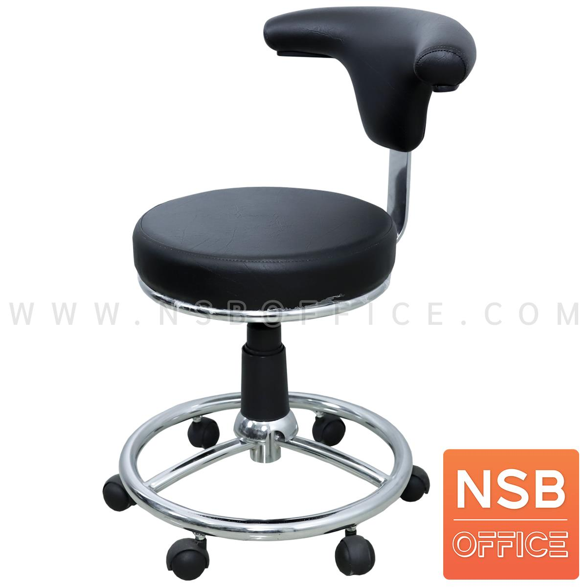 B09A076:เก้าอี้คุณหมอล้อเลื่อน รุ่น Taken (เทคเค่น)  โช๊คแก๊ส ขา 5 แฉก