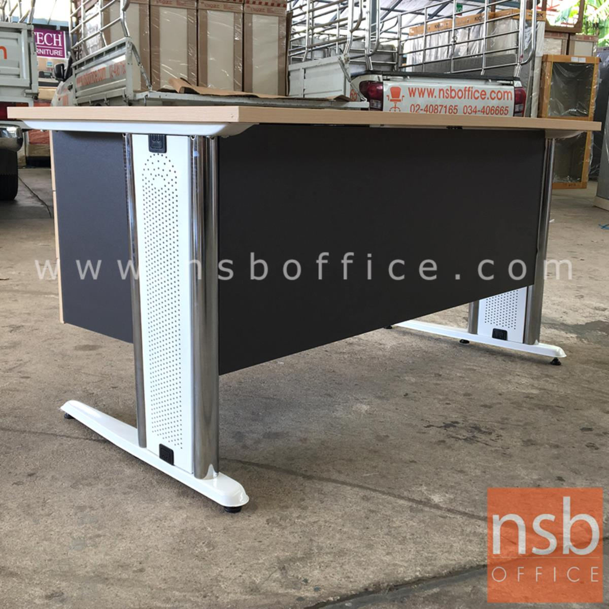 โต๊ะทำงาน 3 ลิ้นชัก รุ่น Cliveden (คลิฟเดิน) ขนาด 120W, 135W, 150W (60D) cm.  ขาเหล็กตัวแอล