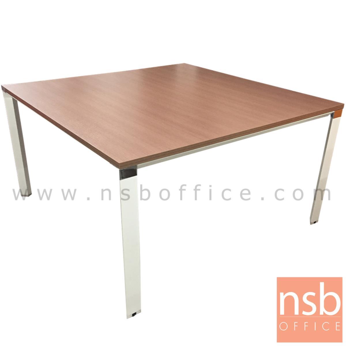 A05A088:โต๊ะประชุมทรงสี่เหลี่ยม รุ่น Hagrid (ฮากริด) ขนาด 100W ,140W cm. ขาเหล็กสีขาว