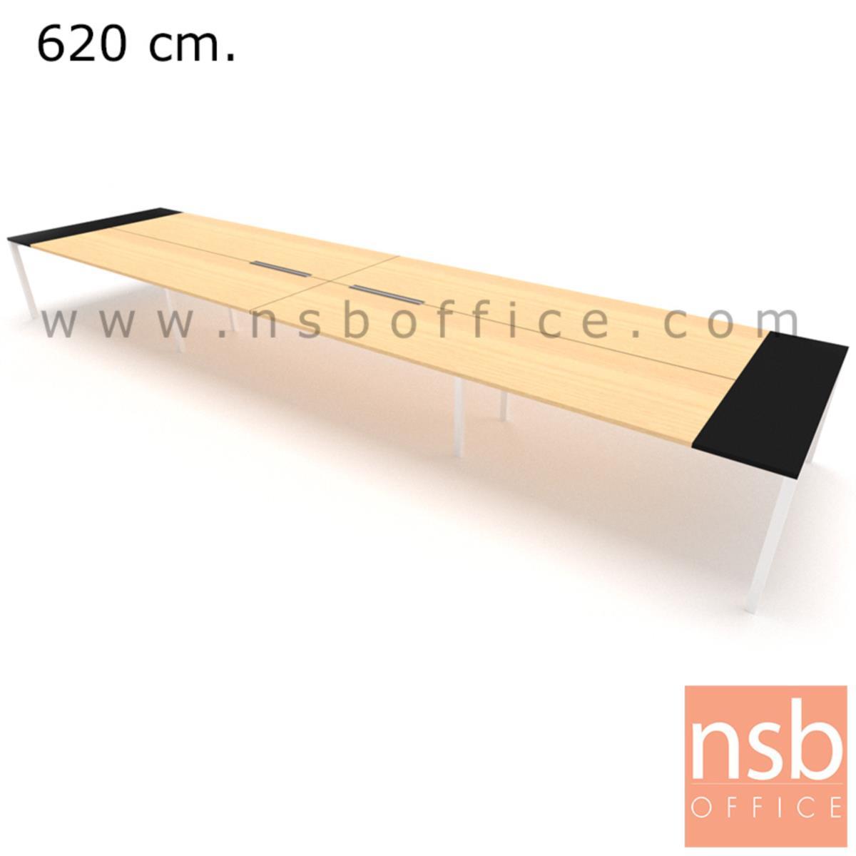 โต๊ะประชุมทรงสี่เหลี่ยม 150D cm. NSB-SQ15  พร้อม popup แบบสองทาง