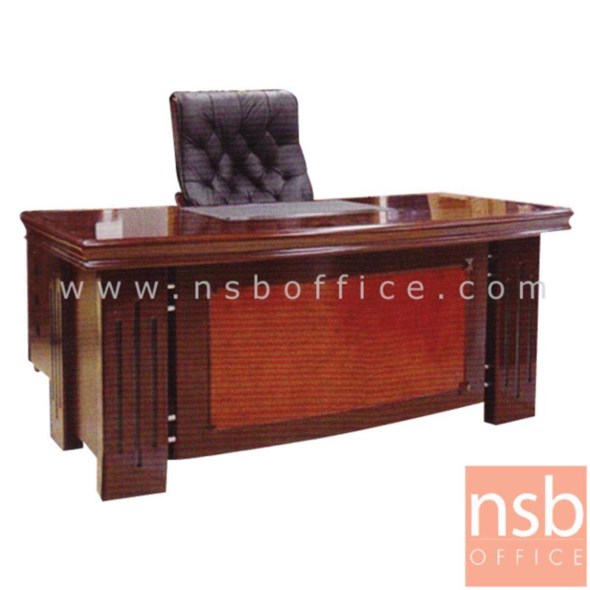 A06A049:โต๊ะผู้บริหารตัวแอล รุ่น Reflection (รีเฟคชั่น) ขนาด 160W cm. พร้อมตู้ลิ้นชักและตู้ข้าง