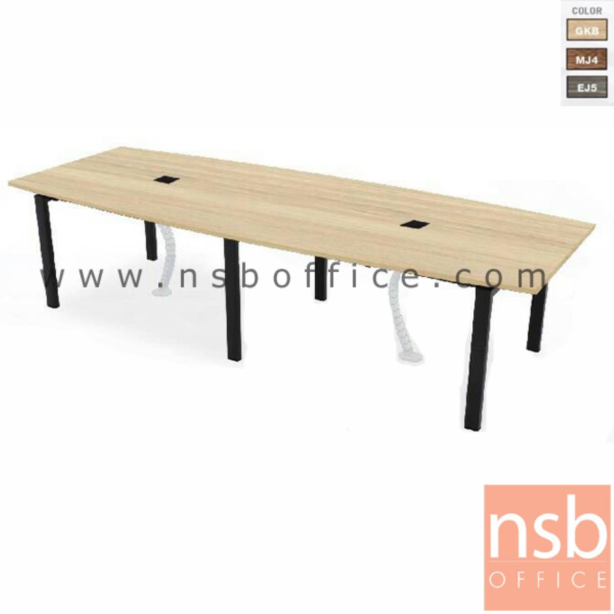 A05A151:โต๊ะประชุมทรงเรือ   ขนาด 320W cm.  พร้อมป๊อบอัพ