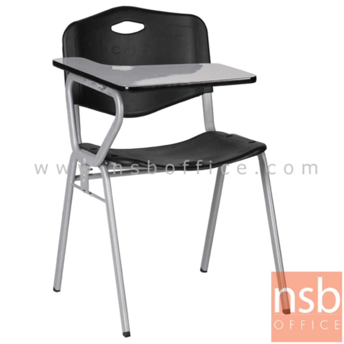 B07A064:เก้าอี้เลคเชอร์เฟรมโพลี่ รุ่น B518 ขาเหล็กพ่นเทา
