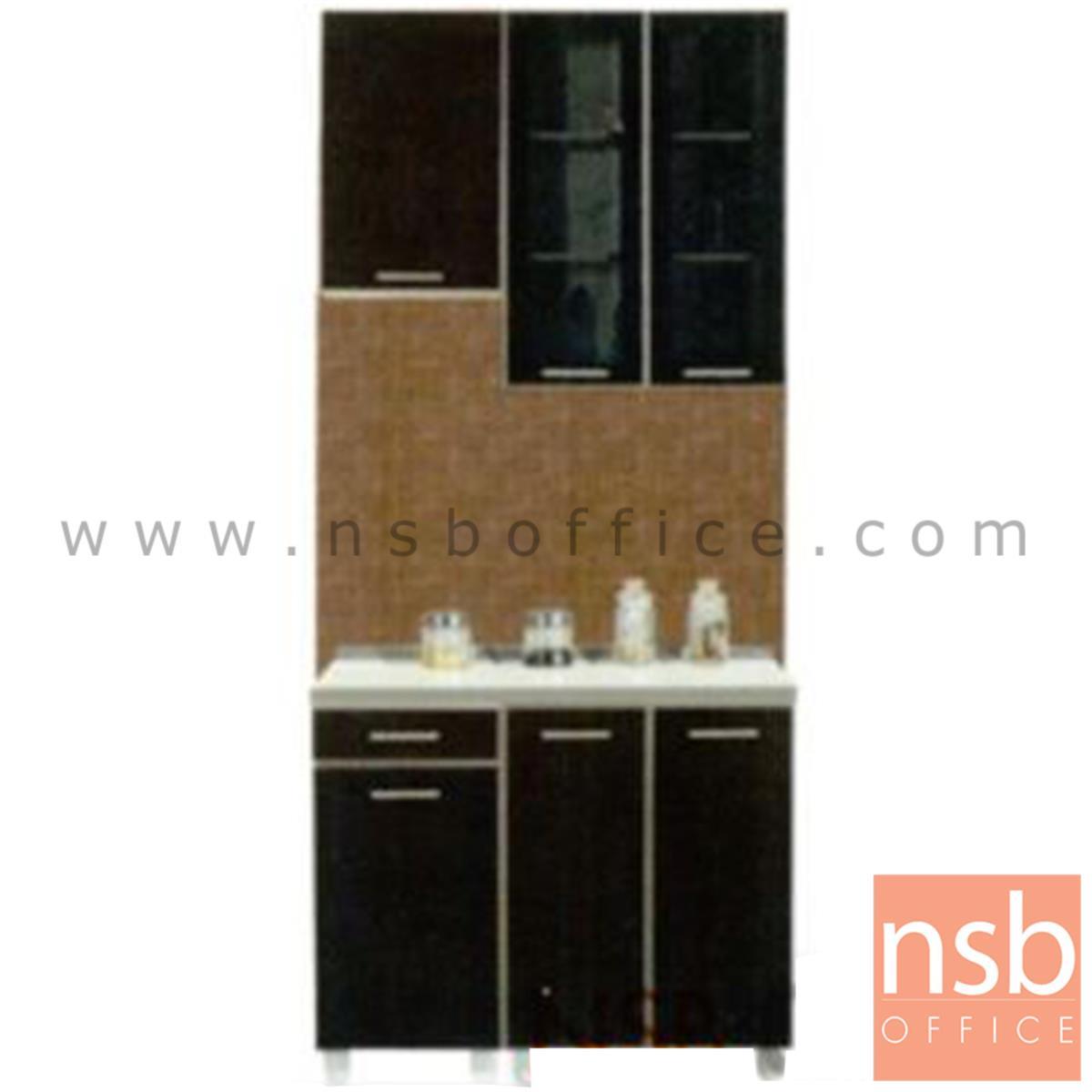 K01A022:ชุดตู้ครัวหน้าเรียบ  รุ่น Darigold-120H  พร้อมตู้แขวน