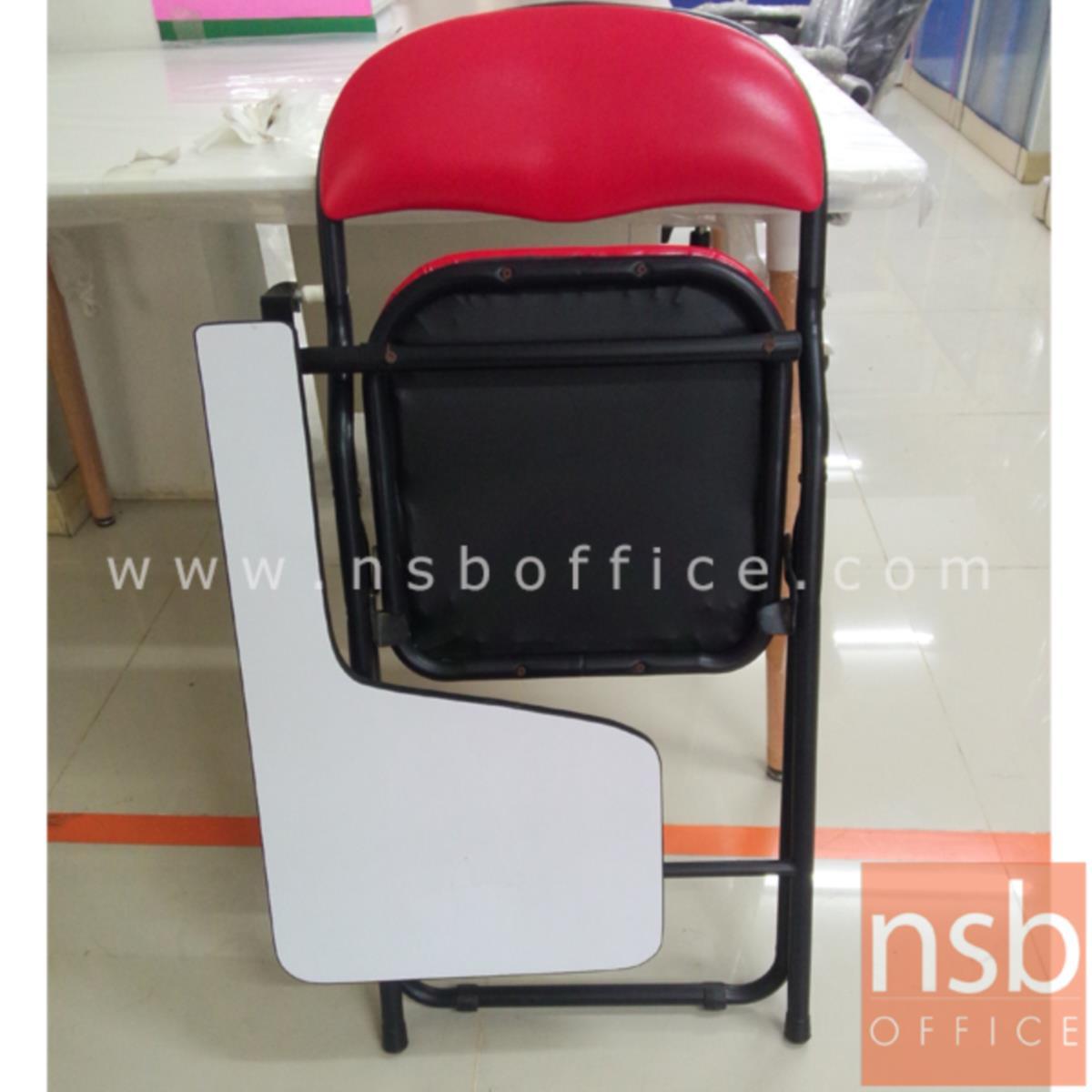 เก้าอี้เลคเชอร์หุ้มหนังเทียม (PVC)  ขาเหล็กพ่นดำ