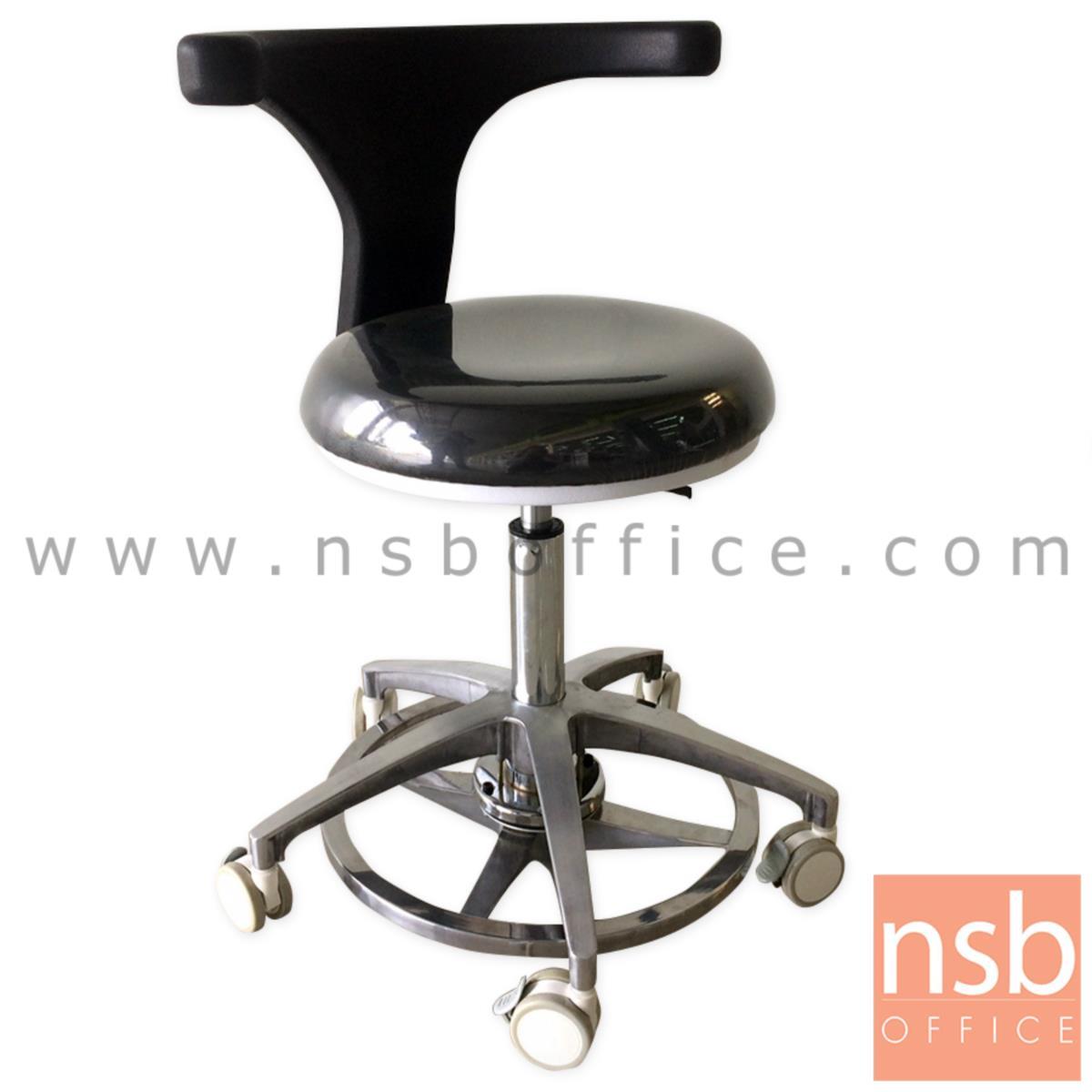 B32A002:เก้าอี้คุณหมอ รุ่น Mocking (ม็อกกิ้ง)  ขาอลูมีเนียม ลูกล้อเก็บเสียง (ปรับระดับด้วยเท้า)