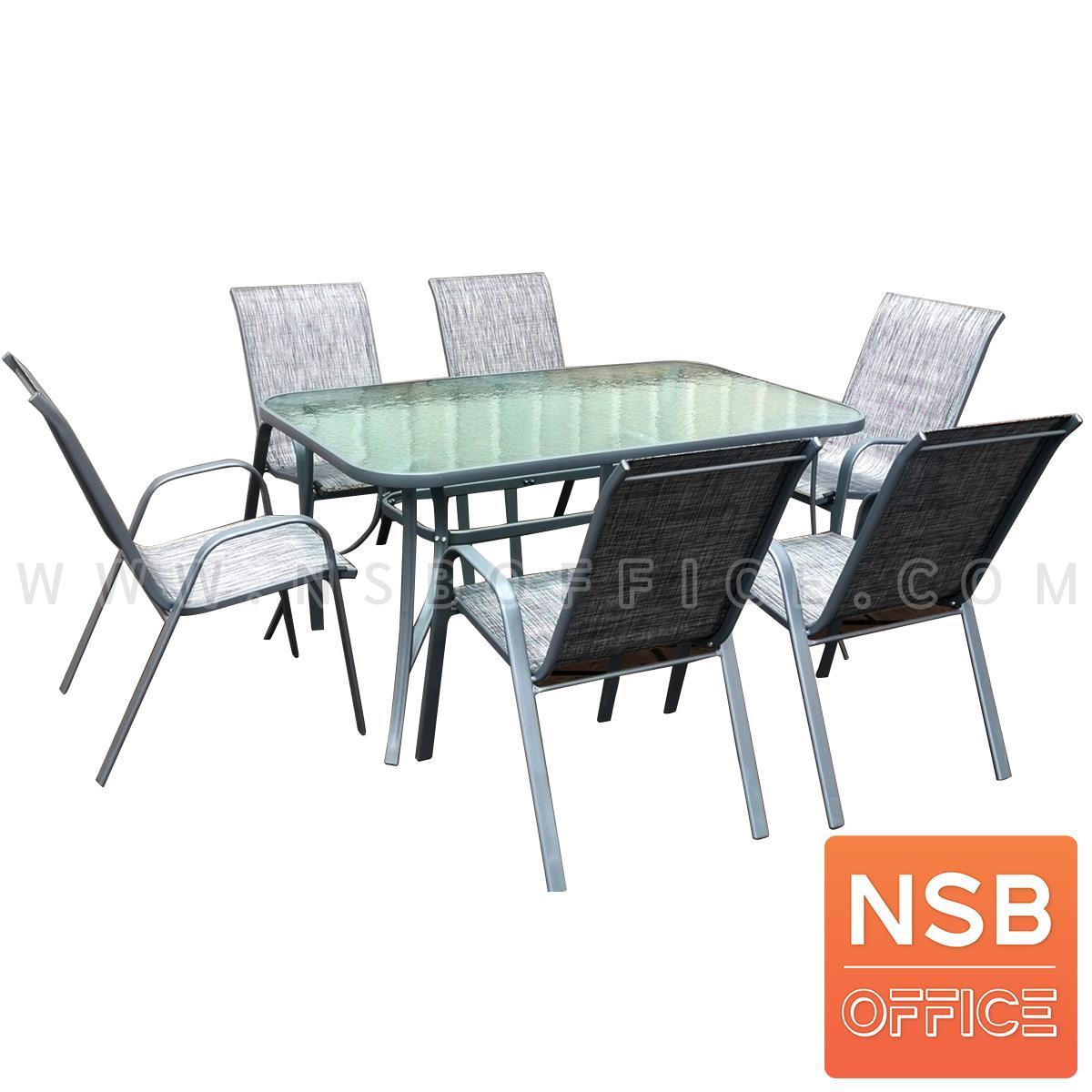 G08A312:ชุดโต๊ะและเก้าอี้รับประทานอาหาร รุ่น Dawny (ดอนนี่)  6 ที่นั่ง พร้อมเก้าอี้