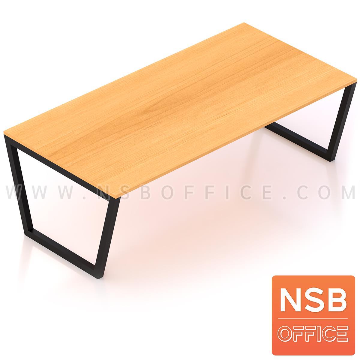 A05A120:โต๊ะประชุมทรงสี่เหลี่ยม  ขนาด 200W ,240W ,300W ,360W 400W cm.  ขาเหล็กทรงคางหมู
