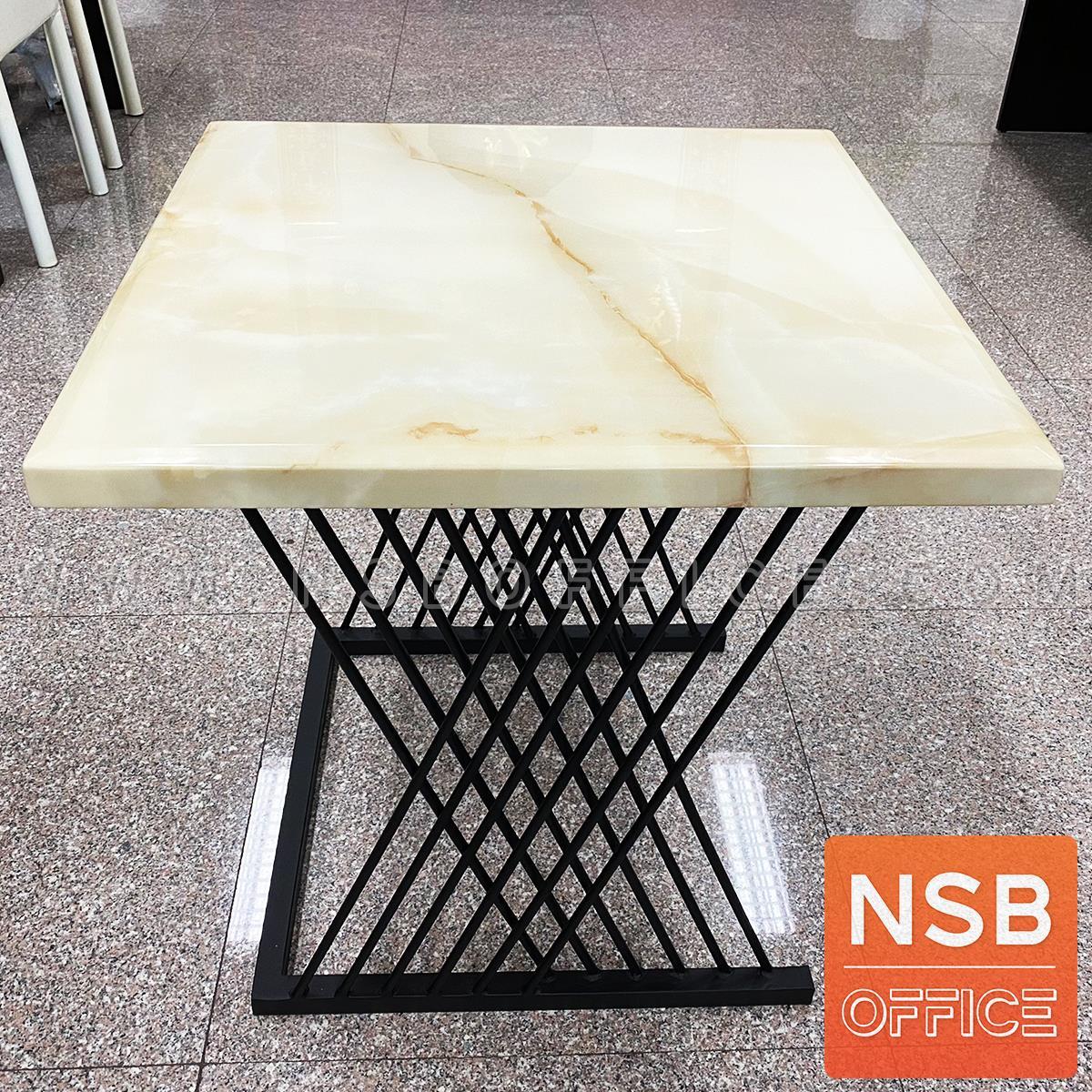 โต๊ะกลางหน้าหินอ่อน รุ่น Bavaria (บาวาเรีย) ขนาด 60W*60D cm.