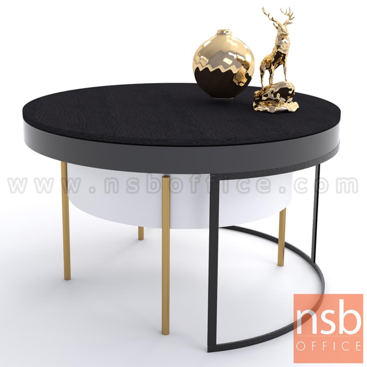 โต๊ะกลางกลมหน้าหิน รุ่น Alder (ออลเดอร์)  ขาสีทอง