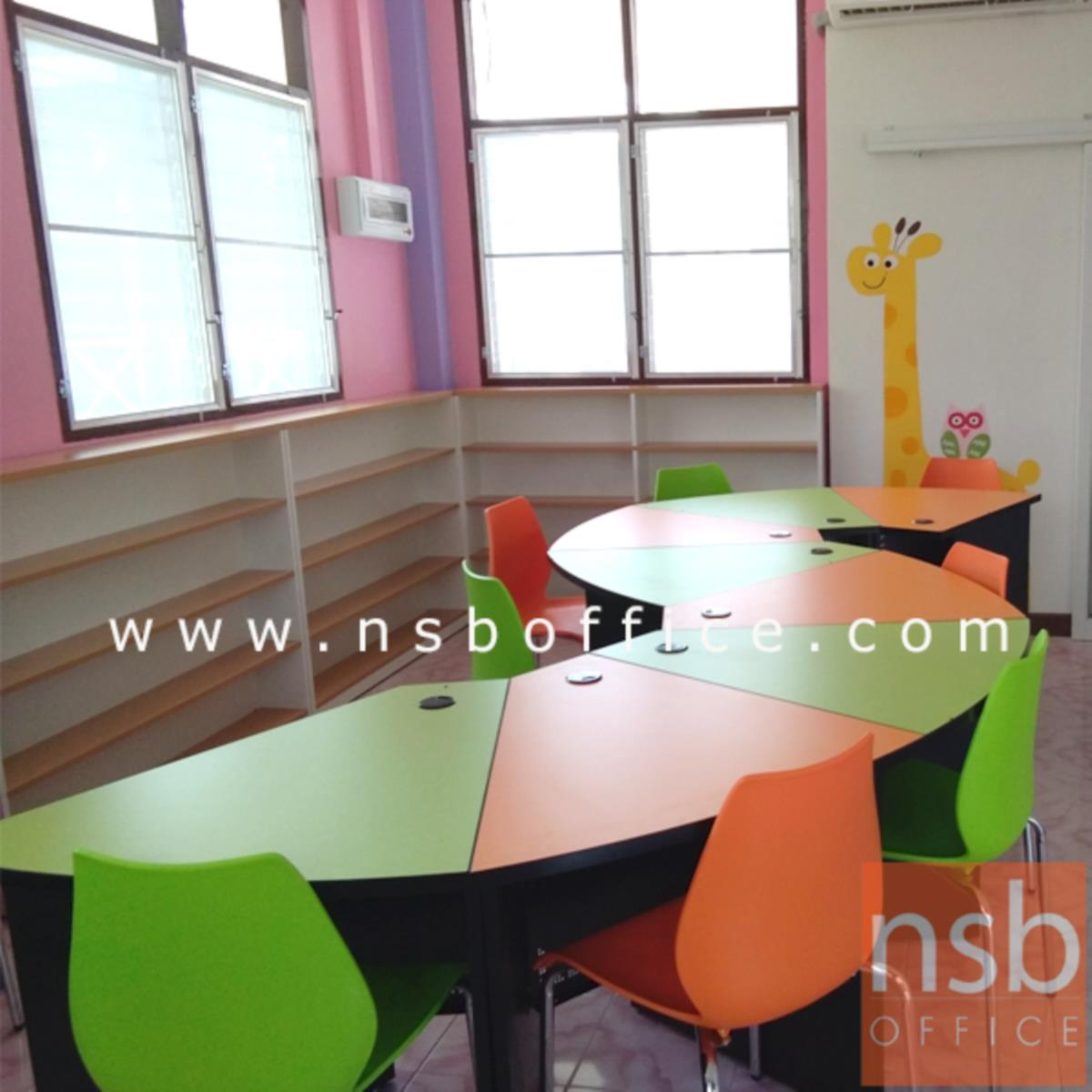 A17A035:โต๊ะกิจกรรม  ขนาด 75W cm. เคลือบผิวเมลามีน (ราคาต่อ 1 ที่นั่ง)