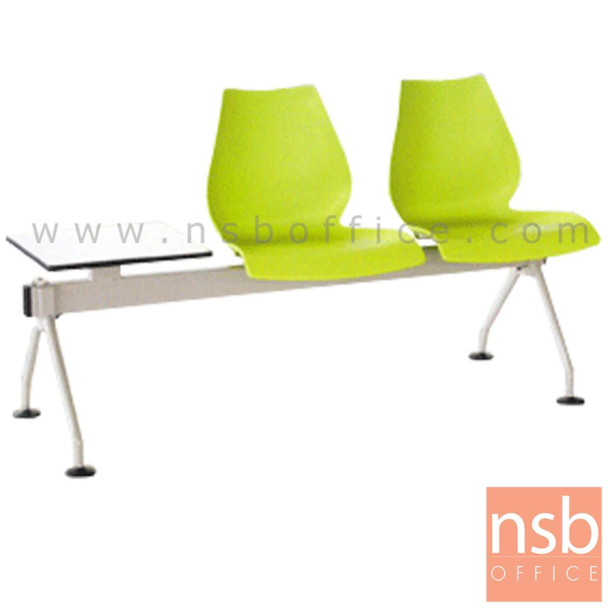 B06A069:เก้าอี้นั่งคอยเฟรมโพลี่ รุ่น B608 2 ,3 ที่นั่ง ขนาด 146W ,199W cm. พร้อมที่วางของ ขาเหล็ก