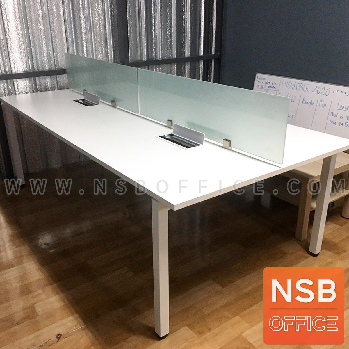 ชุดโต๊ะทำงานกลุ่ม รุ่น Smart  พร้อมมินิสกรีนและกล่องไฟทุกที่นั่ง