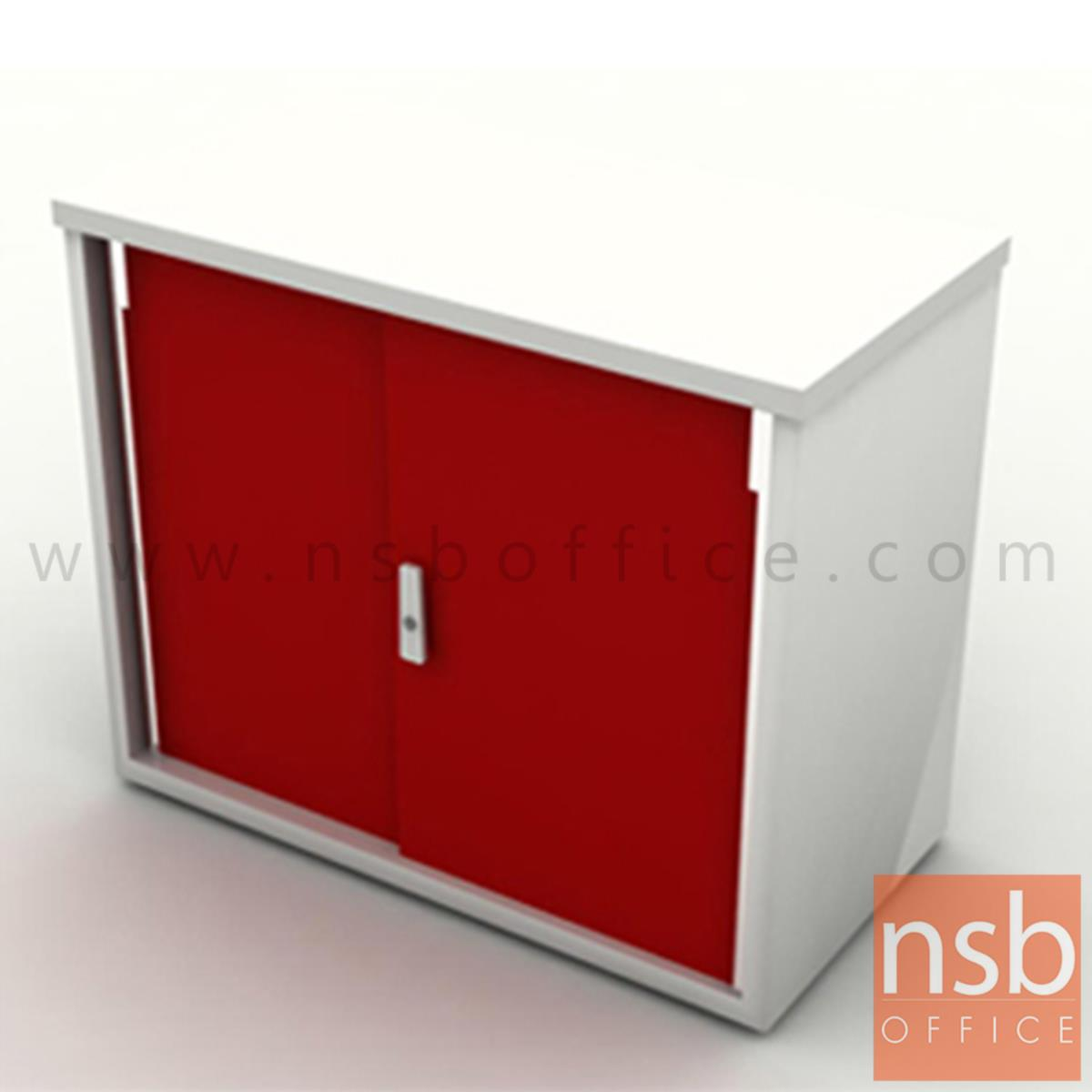 A04A062:ตู้บานเลือกเหล็กแผ่น top ไม้ รุ่น L57  มือจับโครเมี่ยม