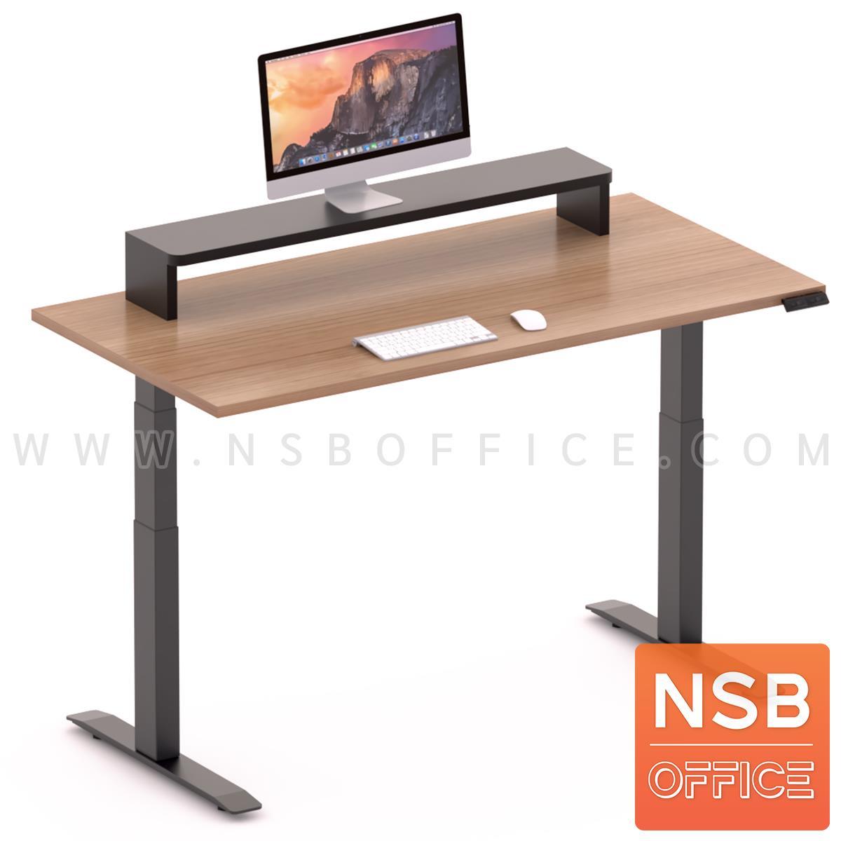 A10A107:โต๊ะทำงาน Sit 2 Stand ระบบไฟฟ้า รุ่น Flaxen (แฟลกซ์เซ็น) ขนาด 150W, 180W cm. พร้อมชั้นวางจอคอมพิวเตอร์