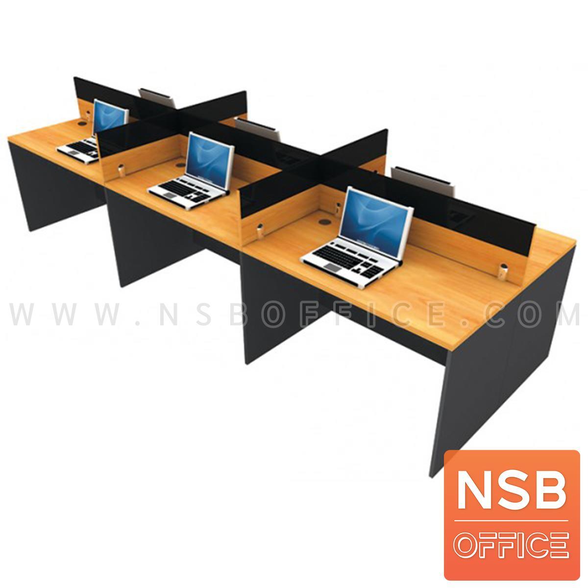 A02A022:โต๊ะทำงานกลุ่ม 6 ที่ันั่ง รุ่น Multi (มัลติ) ขนาด 364W*120D cm. พร้อมมินิสกรีน