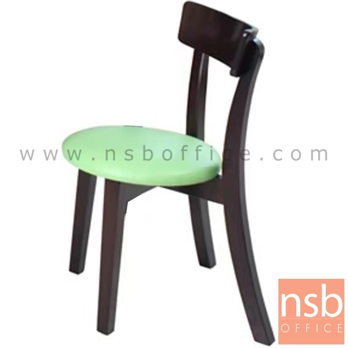 เก้าอี้ไม้ที่นั่งหนังเทียม รุ่น Frollo   ขาไม้