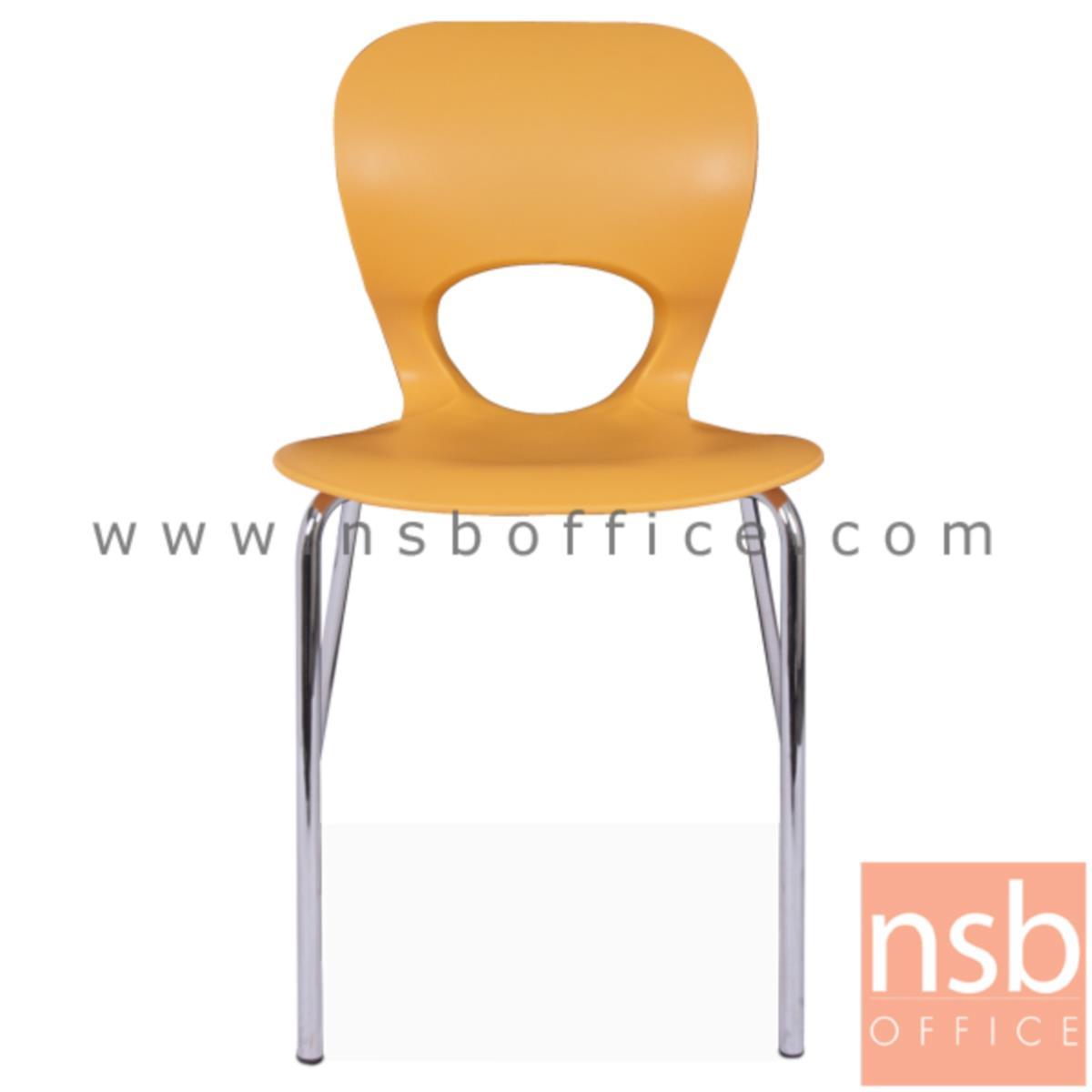 B05A101:เก้าอี้อเนกประสงค์เฟรมโพลี่ รุ่น TTY-LOVE-40  ขาเหล็กชุบโครเมี่ยม
