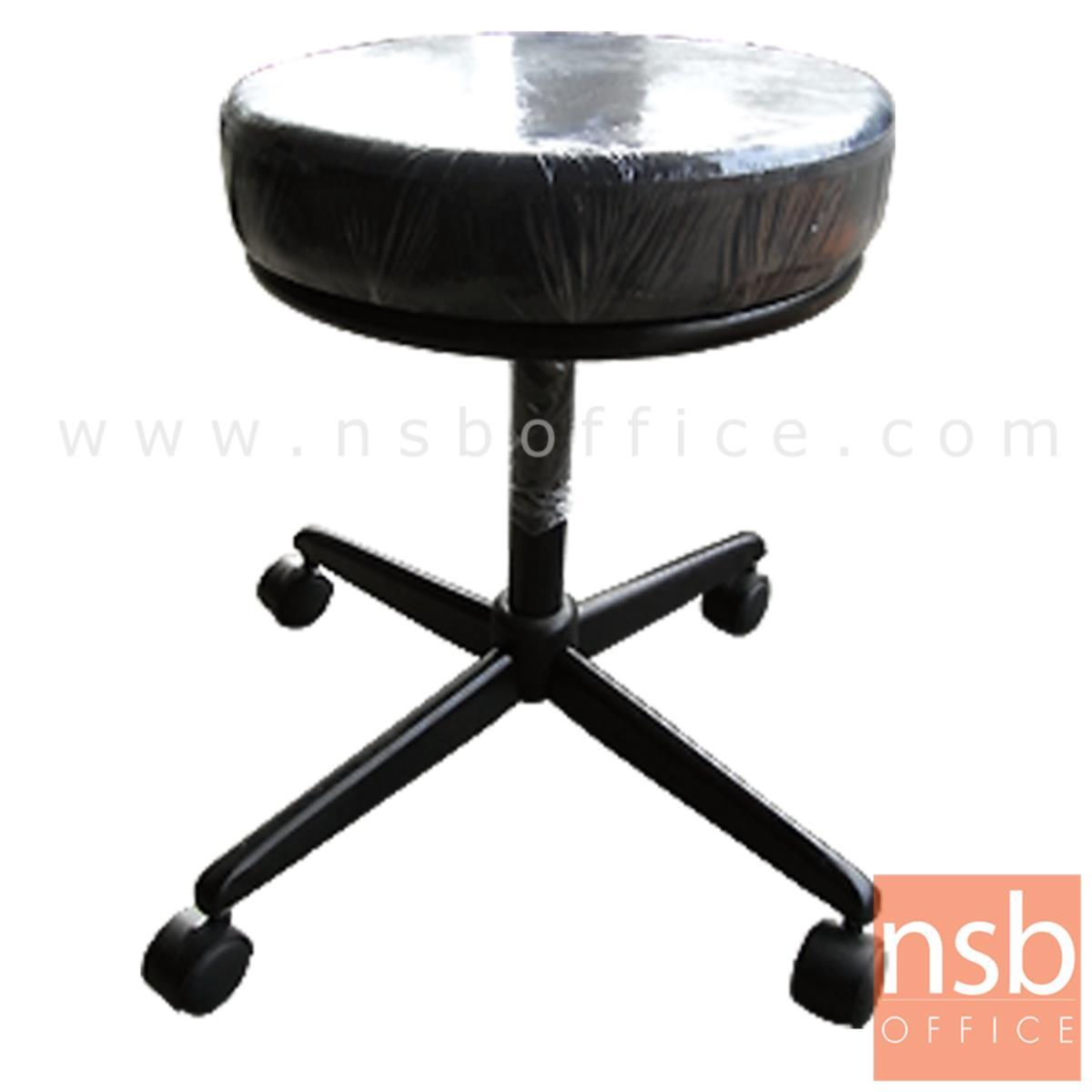 B09A063:เก้าอี้บาร์สตูลกลมเบาะใหญ่ รุ่น Midori (มิโดริ)  ขาเหล็ก