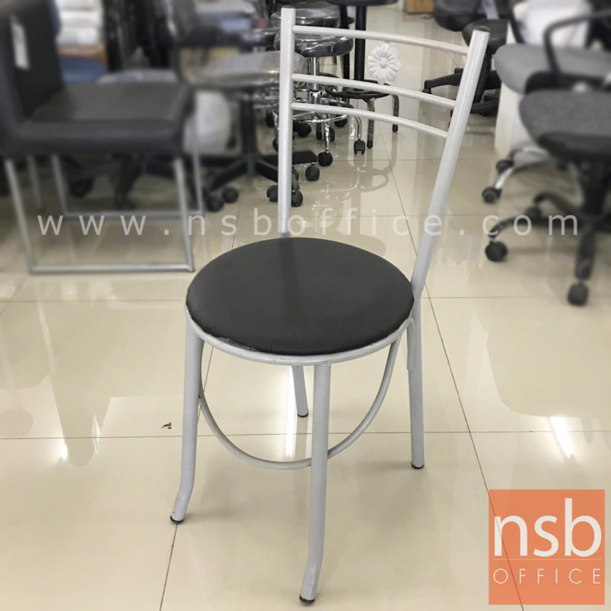 เก้าอี้โมเดิร์นหนังเทียม CHAIR7 พิงหลังตรงกลางลายดอกไม้ (STOCK-1 ตัว)