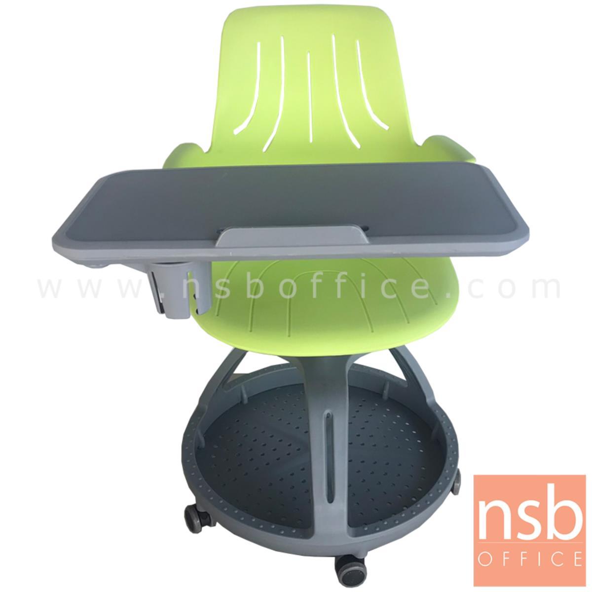 B30A042:เก้าอี้เลคเชอร์เฟรมโพลี่ล้อเลื่อน รุ่น Dion (ดิออน)  ฐานกลมวางกระเป๋าได้