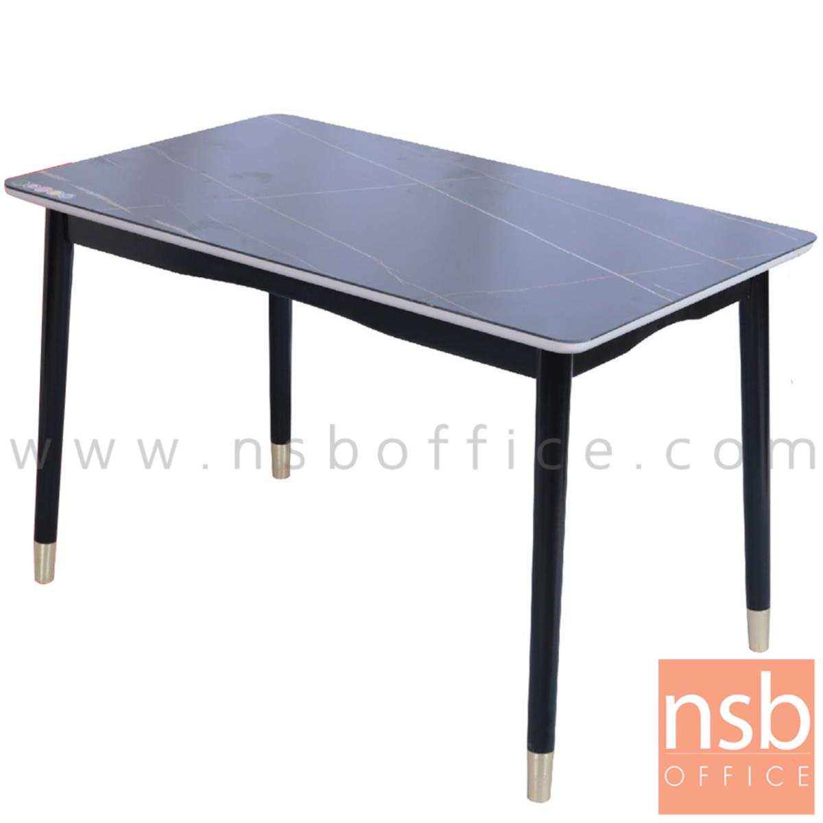 G14A219:โต๊ะรับประทานอาหาร รุ่น Bellagio (เบลลาโจ) ขนาด 120W cm. หน้ากระจกลายหินอ่อน ขาไม้