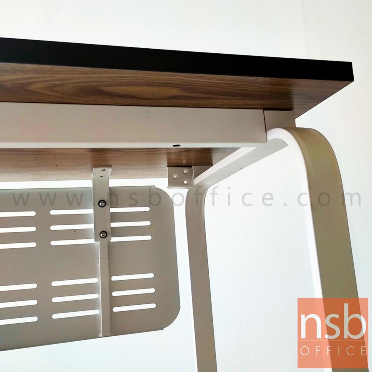 โต๊ะทำงาน รุ่น Cinnamon (ชินาม่อน)  บังตาและโครงขาเหล็ก