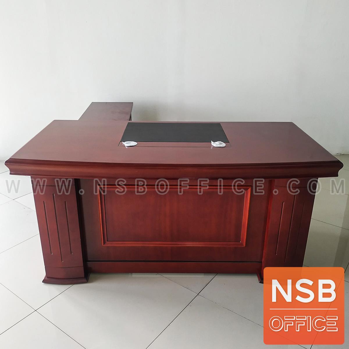 A06A152:โต๊ะทำงานผู้บริหาร รุ่น Symphonic ขนาด 160W, 180W cm.  มีแผ่นรองเขียน
