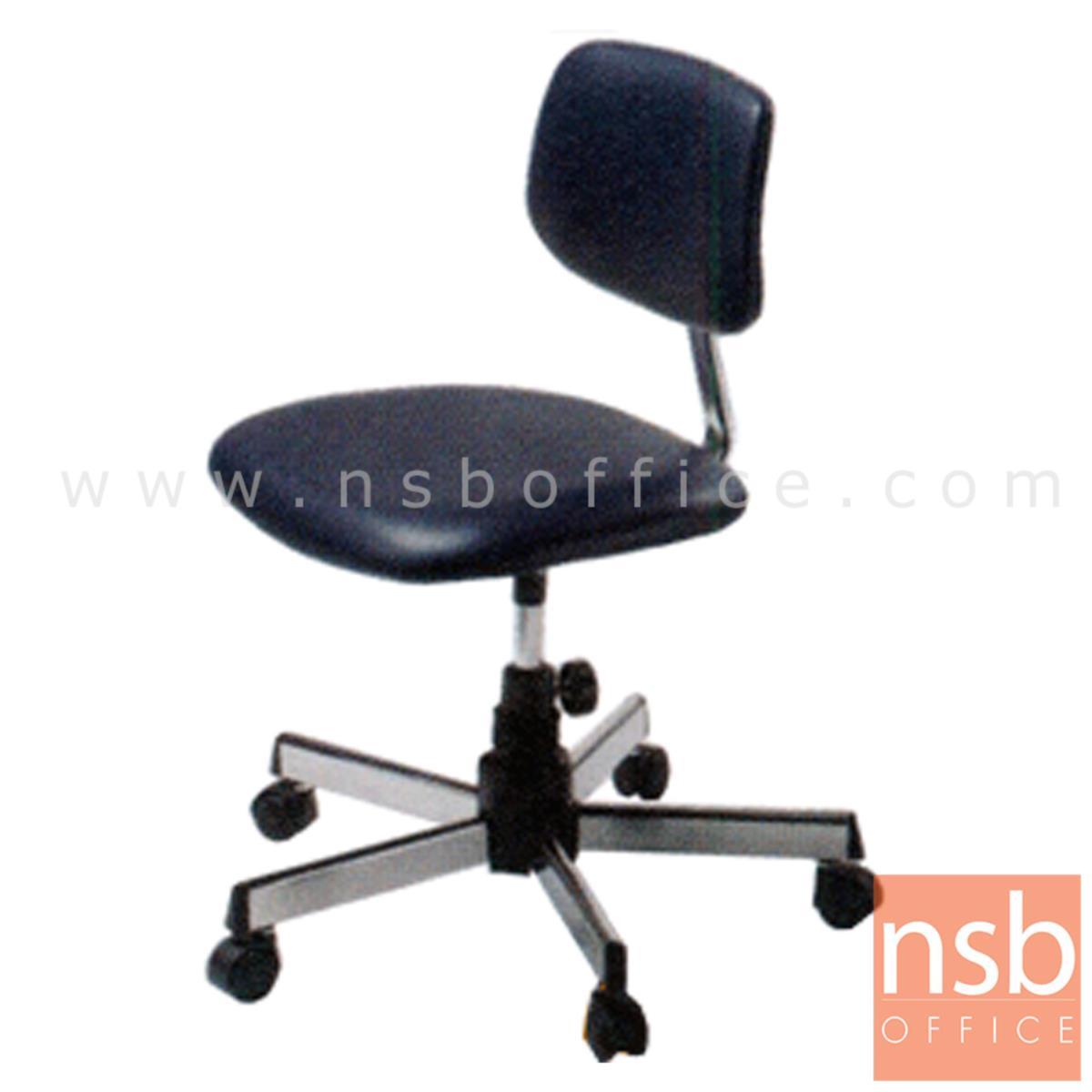 E28A086:เก้าอี้บาร์สตูลที่นั่งเหลี่ยมล้อเลื่อน ยี่ห้อลัคกี้ รุ่น CH-300  ขาเหล็ก