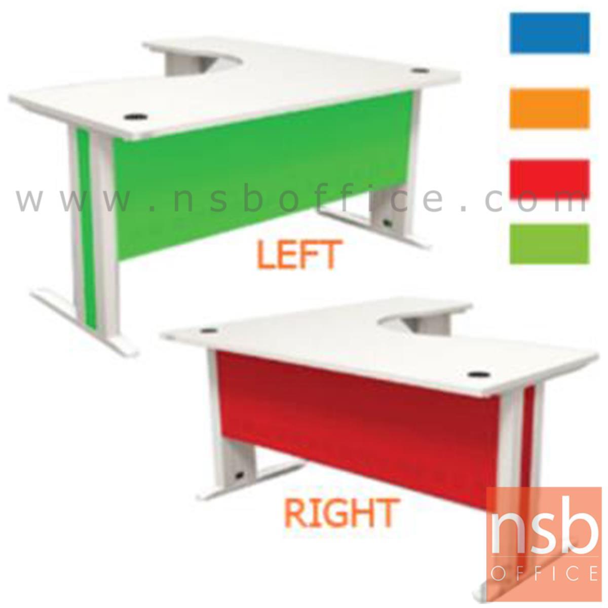 A18A029:โต๊ะทำงานตัวแอลสีสัน  รุ่น Neslite (เนสไลท์) ขนาด 160W1*160W2 cm.  ขาเหล็ก