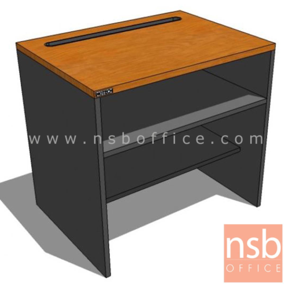 โต๊ะวางพริ้นเตอร์  รุ่น Moreno (มอเรโน)  พร้อมช่องฟีดกระดาษและแผ่นชั้นวาง