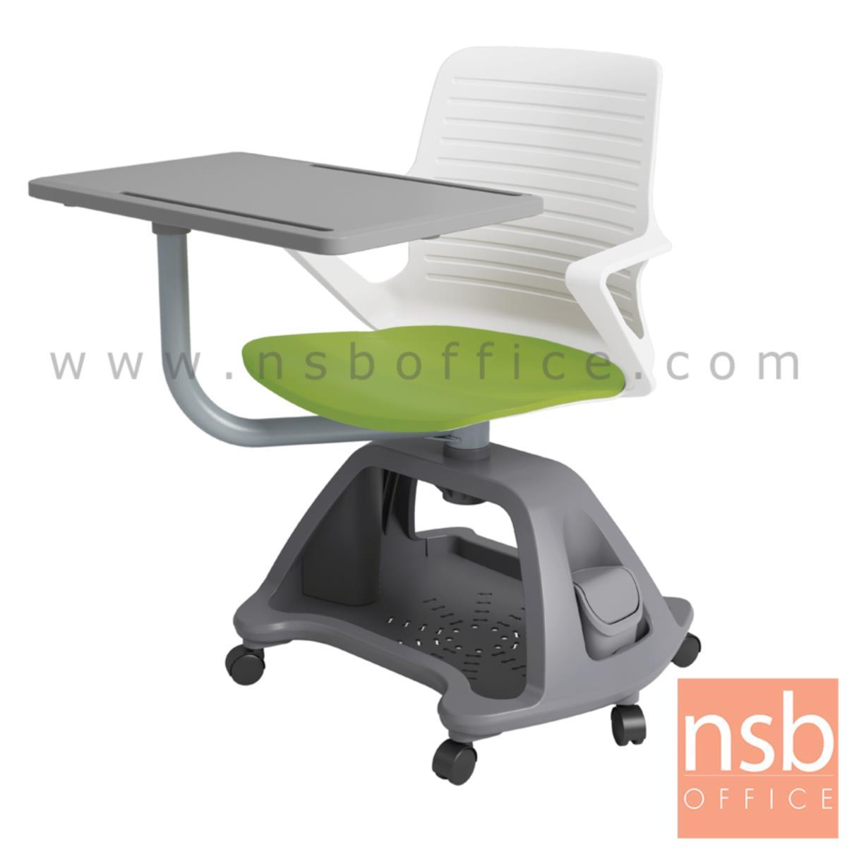 B30A056:เก้าอี้เลคเชอร์เฟรมโพลี่ล้อเลื่อน รุ่น pollen (พอลเลิน) วางกระเป๋าได้