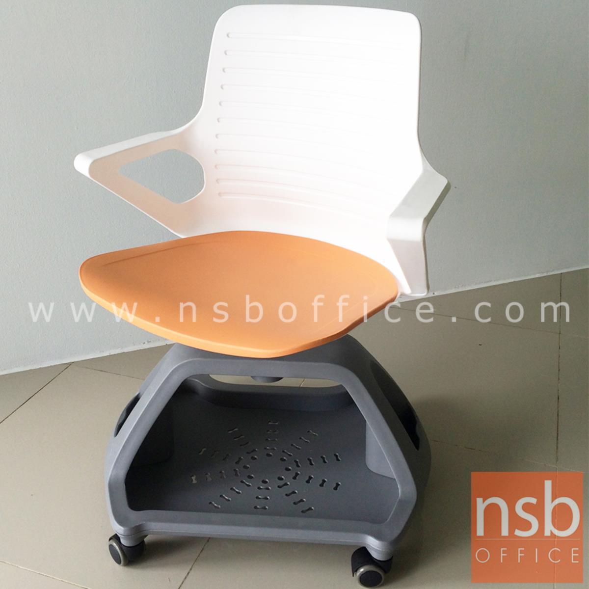 เก้าอี้เฟรมโพลี่ล้อเลื่อน รุ่น Rhine (ไรน์) วางกระเป๋าได้