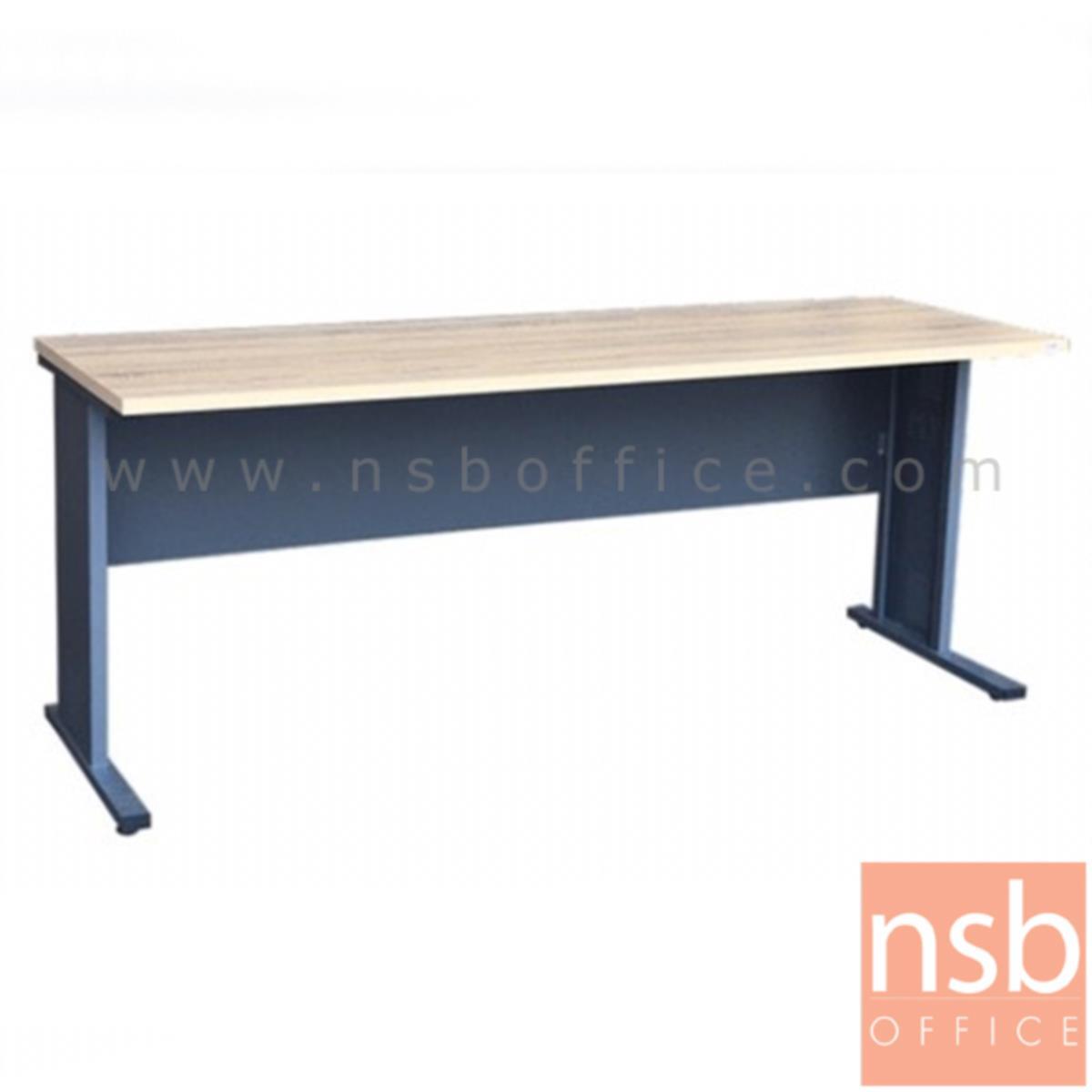 A10A062:โต๊ะทำงาน  รุ่น Alecto (อะเล็กโต) ขนาด 180W cm. ขาเหล็ก  สีโซลิคตัดเทาเข้มหรือสีมูจิตัดเทาเข้ม