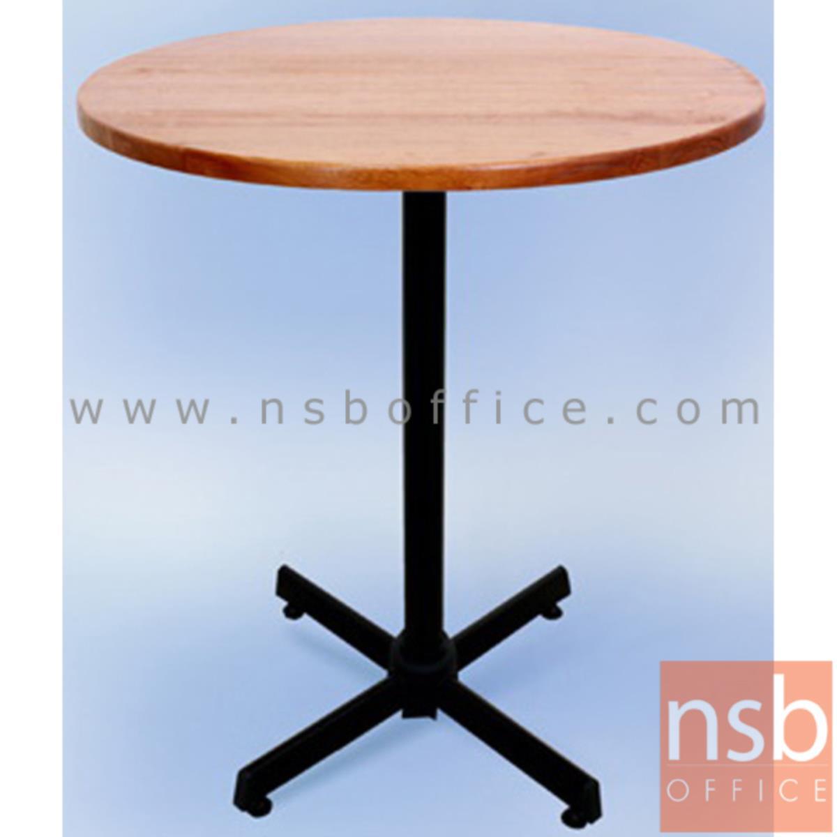 โต๊ะไม้ยางพารา รุ่น Glacier (เกลเชอร์) ขนาด 60Di ,75Di cm. ขาเหล็ก