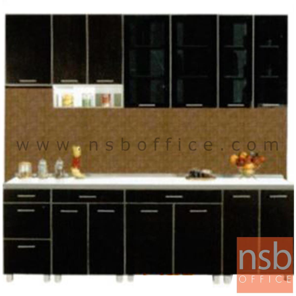 K01A026:ชุดตู้ครัวหน้าเรียบ 240W cm. รุ่น Darigold-240H  พร้อมตู้แขวนลอย