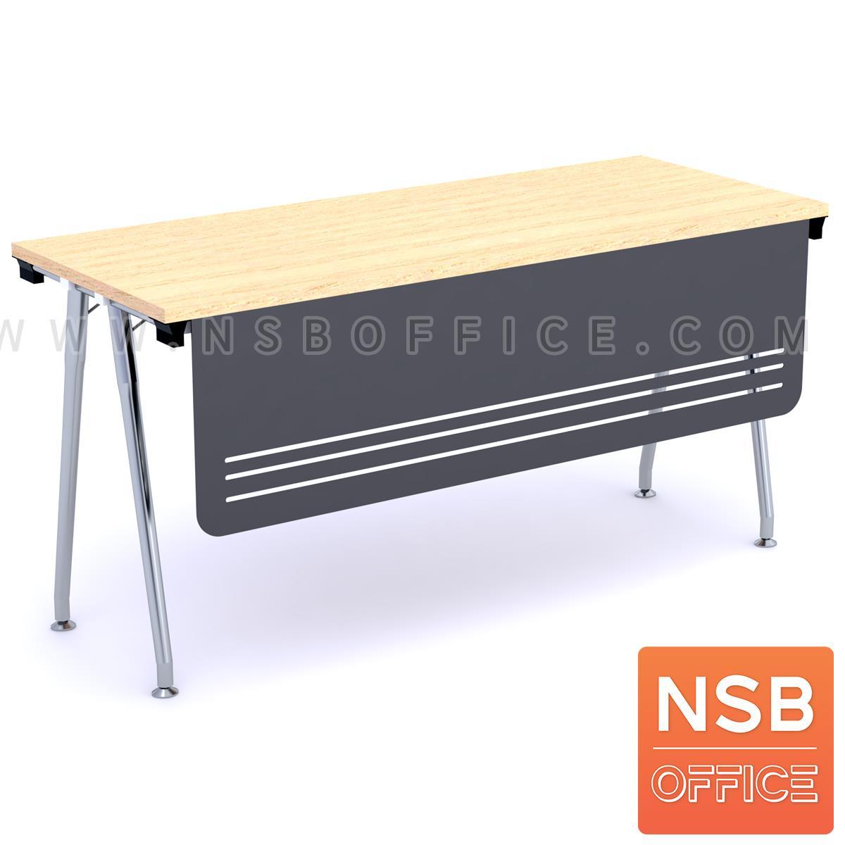 A07A052:โต๊ะประชุมพับเก็บได้ รุ่น  Berline (เบอไลน์) ขนาด 150W ,180W*60D ,75D cm.  พร้อมบังโป๊เหล็ก ขาเหล็ก